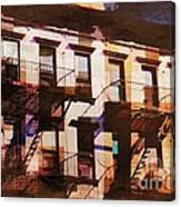Row Houses - Old Buildings And Architecture Of New York City Canvas Print