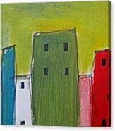 Row Houses Canvas Print