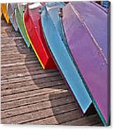 Row Of Colorful Boats Art Prints Canvas Print