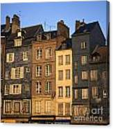 Row Of Houses. Honfleur Harbour. Calvados. Normandy. France. Europe Canvas Print