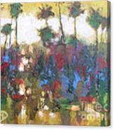 Row Of Palms Canvas Print