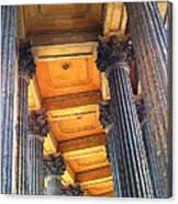 Row Of Pillars Canvas Print
