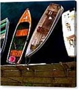 Row Of Rowboats  Canvas Print