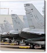 Row Of U.s. Marine Corps Fa-18 Hornet Canvas Print