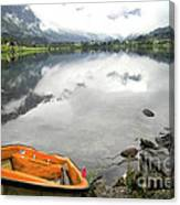 Row Your Boat To The Briksdalsbreen Glacier Canvas Print