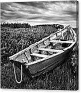 Rowboat At Prospect Point - Black And White Canvas Print