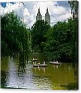Rowboats Central Park New York Canvas Print
