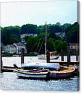 Rowboats Piled At Dock Canvas Print