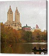 Rowers In Central Park Canvas Print