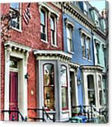 Rowhouses Of Eastern Market Xiv Canvas Print