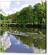 Rowing Practice - Near Branston Canvas Print