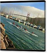 Rowing To The Golden Gate Bridge Canvas Print