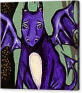 Royal Amethyst Dragon Pup Canvas Print