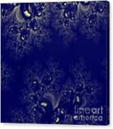 Royal Blue Frost Fractal Canvas Print