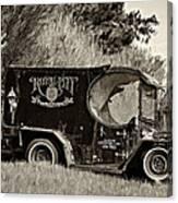 Royal City Paddy Wagon Sepia Canvas Print