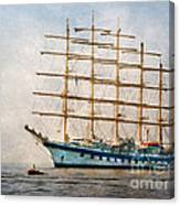 Royal Clipper On Amalfi Coast Canvas Print