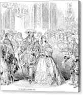 Royal Costume Ball, 1851 Canvas Print