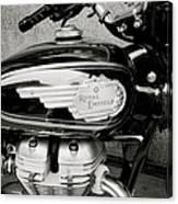 Royal Enfield Motorbike Canvas Print