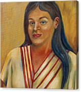 Royal Maiden Xochitl Canvas Print