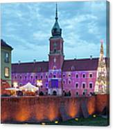 Royal Palace In The Old Town Of Warsaw Canvas Print