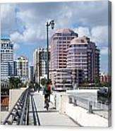 Royal Palm Way Bridge Canvas Print