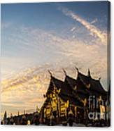 Royal Park Rajapruek On Sunset Canvas Print