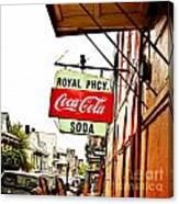 Royal Pharmacy Soda Sign Canvas Print