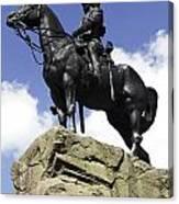 Royal Scots Greys Monument In Edinburgh Canvas Print