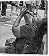 Royal Street Clarinet Player New Orleans Canvas Print