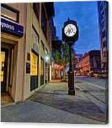 Royal Street Clock Canvas Print