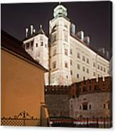 Royal Wawel Castle By Night In Krakow Canvas Print