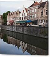 Rozenhoedkaai Bruges Canvas Print