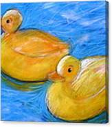 Rubber Ducks In A Tub Canvas Print