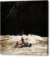 Rubber Raft Running Rapids Canvas Print