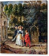 Rubens In His Garden With Helena Fourment Canvas Print