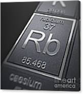 Rubidium Chemical Element Canvas Print