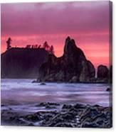 Ruby Beach Last Light Canvas Print