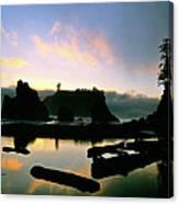 Ruby Beach Sunset Olympic National Park Canvas Print