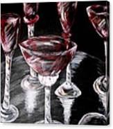 Ruby Crystal Canvas Print
