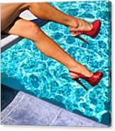Ruby Heels Not In Kansas Palm Springs Canvas Print