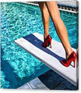 Ruby Heels Ready For Take-off Palm Springs Canvas Print