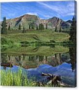 Ruby Peak Reflected In Lake Raggeds Canvas Print
