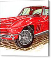 Ruby Red 1966 Corvette Stingray Fastback Canvas Print