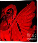 Ruby Red Swan Canvas Print
