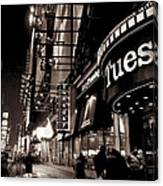 Ruby Tuesday's Times Square - New York At Night Canvas Print