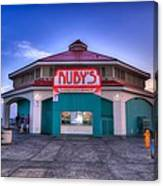 Ruby's Diner On The Pier Canvas Print