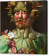 Rudolf II Of Habsburg As Vertumnus Canvas Print