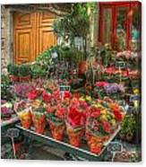 Rue Cler Flower Shop Canvas Print