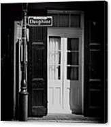 Rue Dauphine French Quarter New Orleans-monochrome Canvas Print
