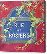 Rue Des Rosiers In Paris Canvas Print
